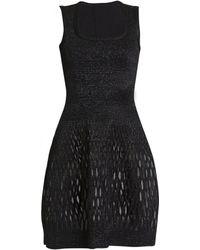 3595abc31c4c7 J. Mendel Zip Front Leather Dress - Noir in Black - Lyst