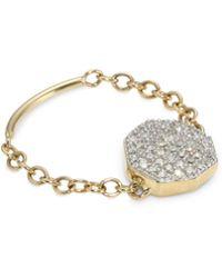 Phillips House - Diamond 14k Yellow Gold Chain Ring - Lyst
