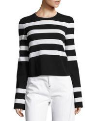 CALVIN KLEIN 205W39NYC - Karter Striped Long-sleeve Top - Lyst