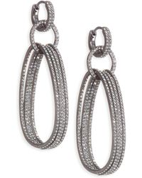 Adriana Orsini - Holiday Ear Huggie Drop Earrings - Lyst