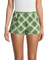 Marc Jacobs - Plaid Washed-silk Shorts - Lyst