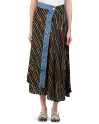 Loewe - X Paula's Ibiza Mixed Media Flags Skirt - Lyst
