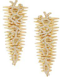 Hueb - 18k Gold & Diamond Drop Earrings - Lyst