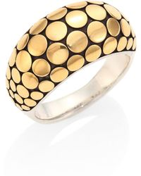 John Hardy - Dot 18k Yellow Gold & Sterling Silver Ring - Lyst