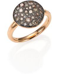 Pomellato - Sabbia Brown Diamond & 18k Rose Gold Ring - Lyst