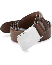 Polo Ralph Lauren - Engine Turn Leather Belt - Lyst