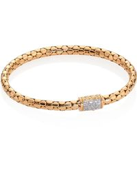John Hardy - Dot Slim Diamond & 18k Yellow Gold Chain Bracelet - Lyst