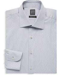 Ike Behar - Regular-fit Patterned Cotton Dress Shirt - Lyst