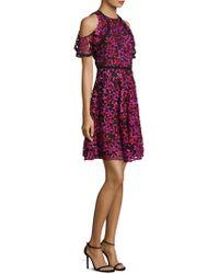 Shoshanna - Floral Lace Dress - Lyst
