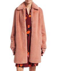 Akris Punto - Faux-fur Cocoon Coat - Lyst