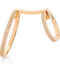 Repossi - 18k Rose Gold & Diamond Elliptiques Earring - Rose Gold - Lyst
