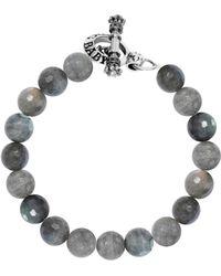 King Baby Studio - Labradorite Sterling Silver Beaded Toggle Bracelet - Lyst