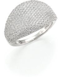 Adriana Orsini - Pave Dome Ring - Lyst