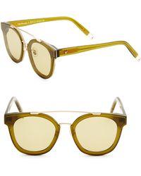 Gentle Monster | Tilda Swinton X Newtonic 64mm Rounded Square Sunglasses | Lyst