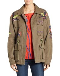 Tanya Taylor - Alina Embroidered Twill Military Jacket - Lyst