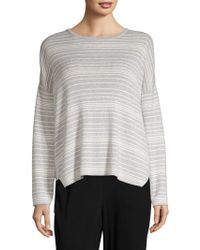 Eileen Fisher - Striped Box Top - Lyst