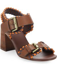 See By Chloé - Romy City Leather Whipstitch Sandals - Lyst