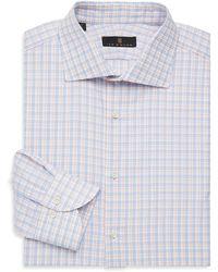 Ike Behar - Regular-fit Check Button Front Dress Shirt - Lyst