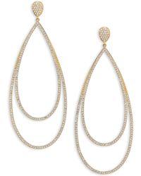 Adriana Orsini - Pavé Crystal Double-tier Drop Earrings/goldtone - Lyst