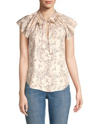 0cac6a8d3b Rebecca Taylor - Gianna Floral Silk Top - Lyst