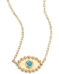 Anzie - Dew Drop Turquoise Evil Eye Pendant Necklace - Lyst