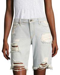Joe's - Finn Distressed Denim Bermuda Shorts - Lyst