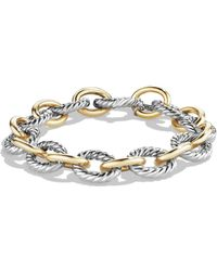David Yurman - Oval Large Link Bracelet With Gold - Lyst