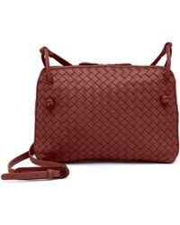 Bottega Veneta - Women s Pillow Intrecciato Leather Crossbody Bag - Glace -  Lyst b03b37ac0e31a