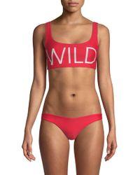 Wildfox - Logo Bikini Top - Lyst