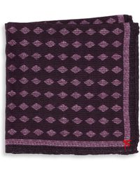 Isaia - Polka Dot Pocket Square - Lyst