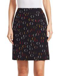 Akris Punto - Jacquard Circle Print A-line Skirt - Lyst