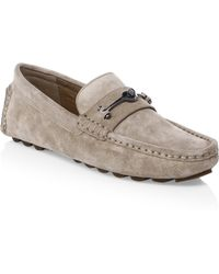 COACH - Suede Bit Driver Loafers - Lyst