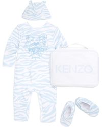 KENZO - Baby's Four-piece Romper, Stocking Cap, Slippers And Bag Gift Set - Lyst