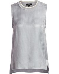 a94e497c344f41 Forever 21 Muhammad Ali Crop Top in Gray - Lyst