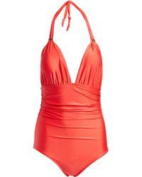 84cc58e189 ViX - Coral Bia One - Piece Swimsuit - Lyst