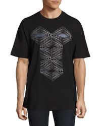 36 Pixcell - Graphic Printed Short Sleeve Tee - Lyst