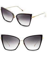 ec81bfcc764 Dita Eyewear - Women s 59mm Sunbird Cat-eye Sunglasses - Black Gold - Lyst