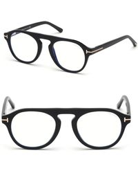 c3de9fbcc11 Tom Ford Soft Rounded Acetate Optical Frames in Brown - Lyst