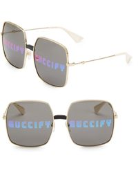 ff93e77638 Lyst - Gucci 58mm Square Pilot Sunglasses for Men