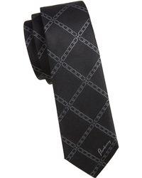 Burberry - Chain Jacquard Silk Tie - Lyst