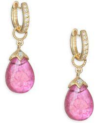 Jude Frances - Lisse Diamond Pear Drop Earring Charms - Lyst