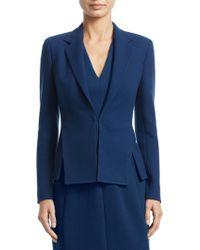 Akris - Ocelia Wool Crepe Jacket - Lyst