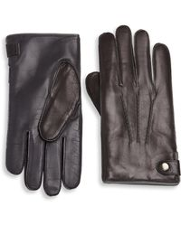 Saks Fifth Avenue - Collection Touch Tech Leather & Cashmere Gloves - Lyst