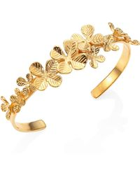Aurelie Bidermann - Tamar Clover Bangle Bracelet - Lyst