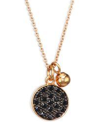 Ginette NY - Mini Black Diamond Disc Chain Necklace - Lyst