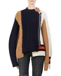 Sacai - Wool Knit Blouson - Lyst