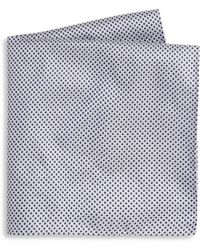 Armani - Printed Silk Pocket Square - Lyst