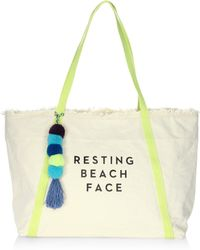 MILLY - Resting Beach Face Tote - Lyst