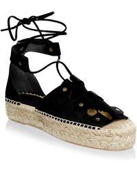 Soludos | Ghillie Suede Platform Espadrille Sandals | Lyst