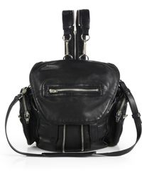 Alexander Wang | Mini Marti Backpack In Washed Black With Rose Gold | Lyst